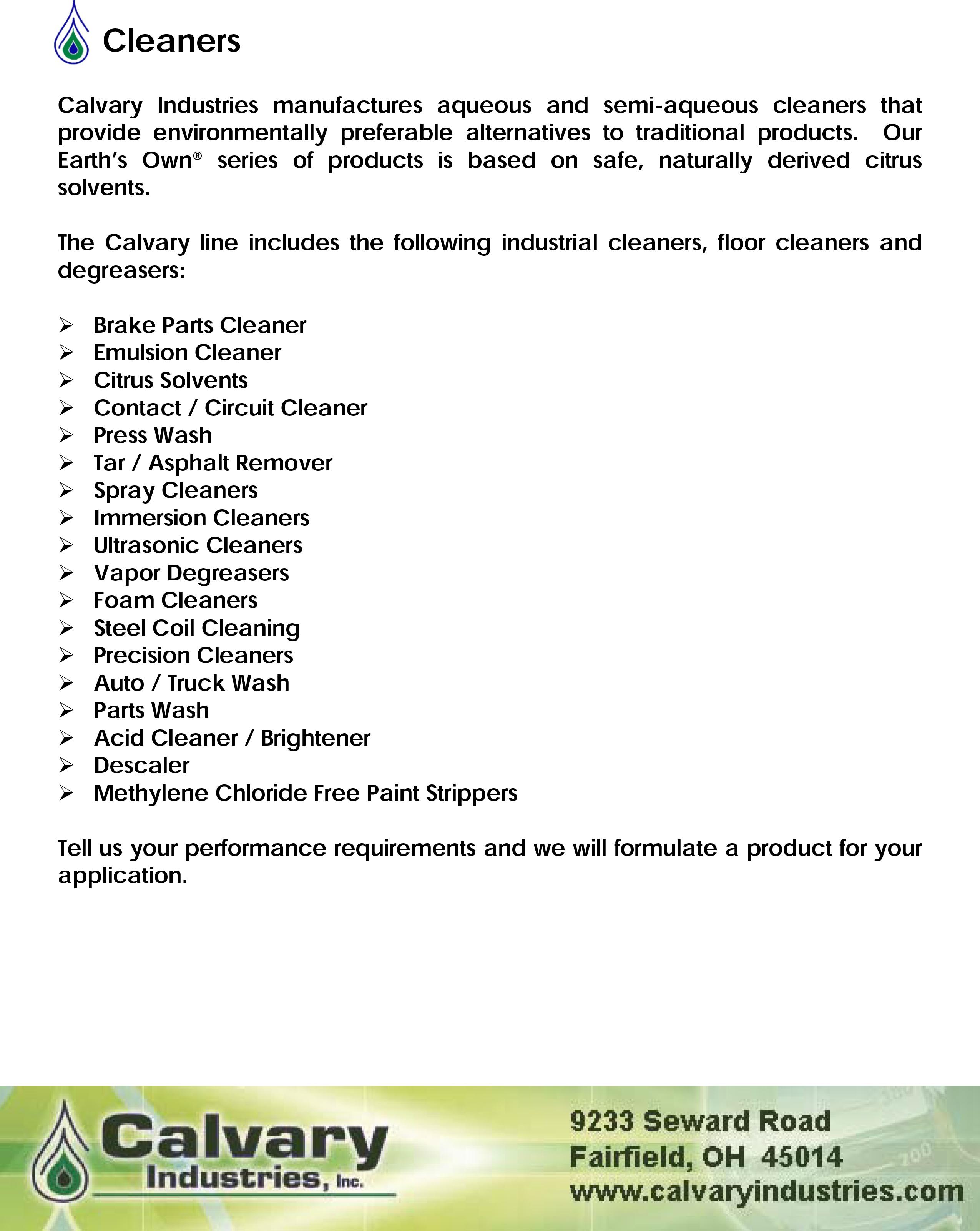 Cleaners-brochure