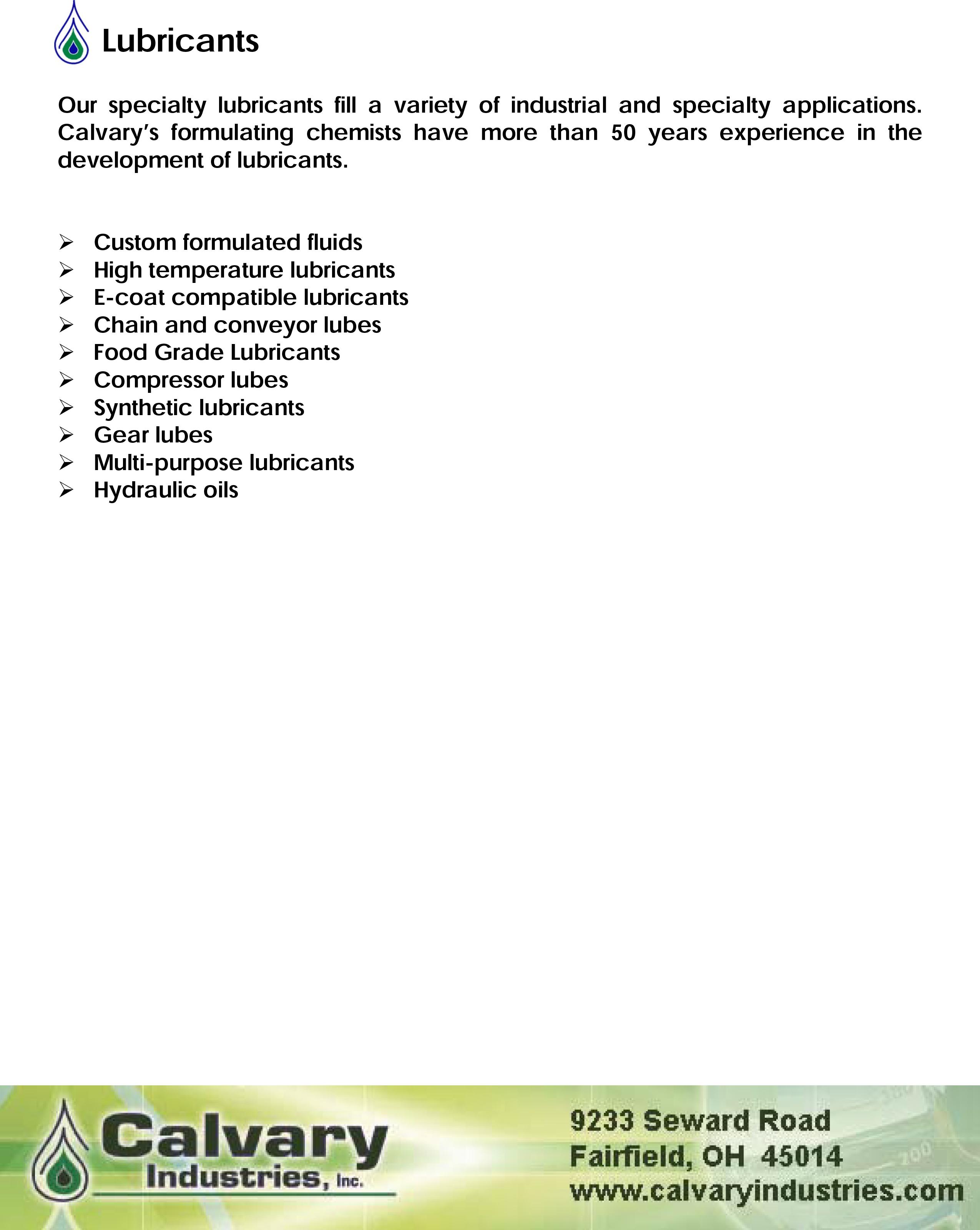 Lubricants-brochure